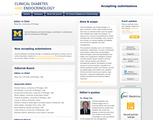 Visit the Clinical Diabetes and Endocrinology website