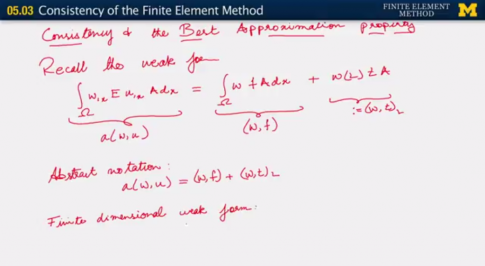 Screen capture from Consistency of the Finite Element Method (05.03) video by Krishna Garikipati. CC BY NC